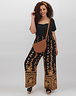 Band of Gypsies Printed Palazzo Trousers