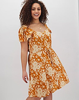 Band Of Gypsies Button Floral Dress
