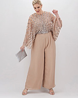 Maya Curve Sequin Wide Leg Jumpsuit
