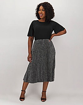 AX Paris Polka Dot Pleat Midi Dress