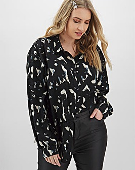 AX Paris Dip Hem Printed Shirt