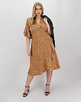 AX Paris Polka Dot Frill Wrap Dress