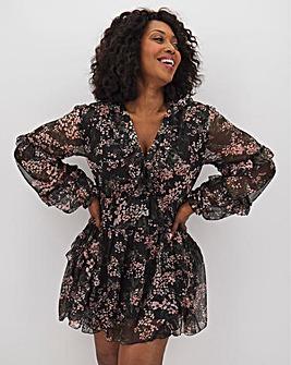 AX Paris Floral Frill Sleeve Dress