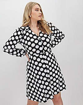 Pink Clove Spot Shirt Dress