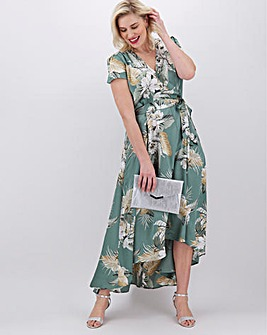 AX Paris Printed Wrap Midi Dress