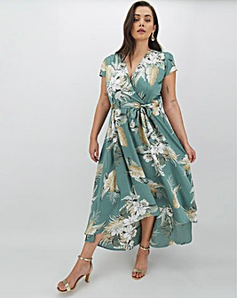 AX Paris Printed Wrap Midi Dress