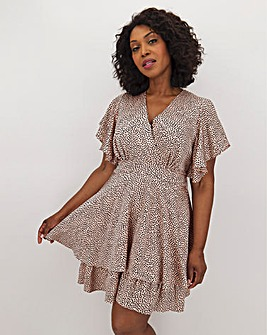 AX Paris Spot Wrap Skater Dress