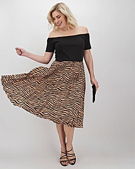 AX Paris Two in One Tiger Print Dress