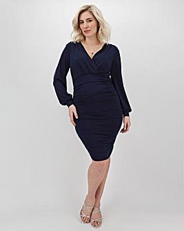 AX Paris Wrapover Ruched Dress