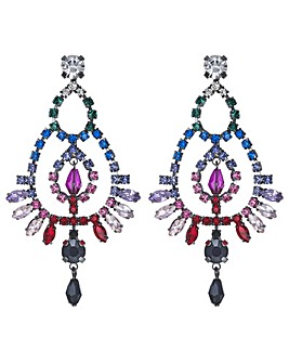 Mood Crystal Rainbow Chandelier Earrings
