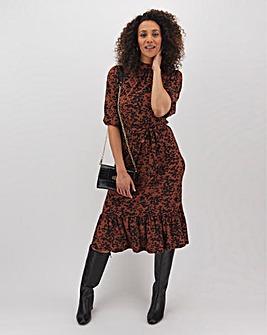 Oasis Amy Leopard Chuck On Dress