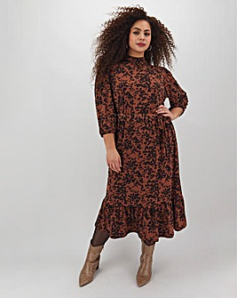 Oasis Amy Leopard Chuck On Dress