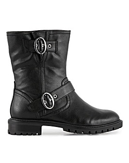 Larch Biker Boots Extra Wide Fit