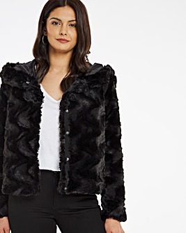 Vero Moda Hooded Faux Fur Jacket