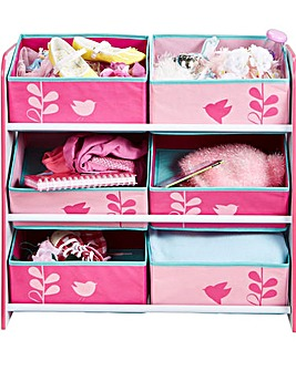 Flowers and Birds Kids Storage Unit