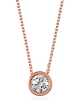Radley Brilliant CZ Button Necklace
