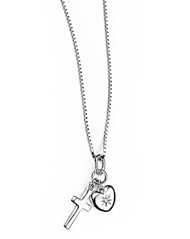 D for Diamond Charm Necklace