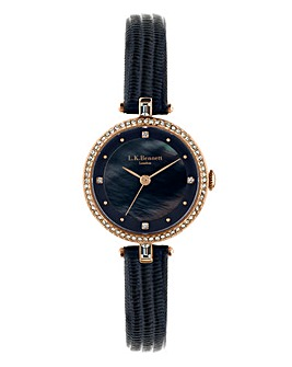 LK Bennett Navy Strap Ladies Watch