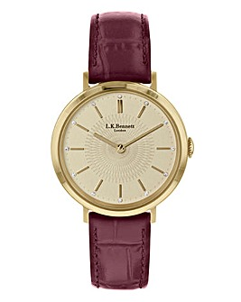 LK Bennett Burgundy Strap Ladies Watch