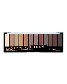 Rimmel Magnifeyes Contouring Eyeshadow Palette - Nude - With Free Lips Pouch