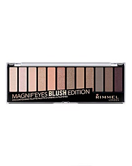 Rimmel Magnifeyes Contouring Eyeshadow Palette - Blush - With Free Lips Pouch