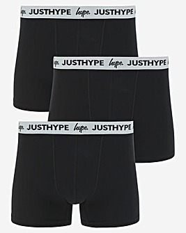 Hype 3 Pack Black Boxer Shorts