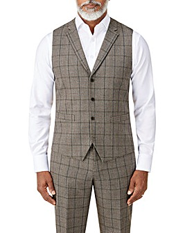 Skopes Pershore Brown Check Waistcoat