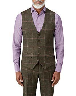 Skopes Morfe Lovat Check Waistcoat