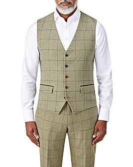 Skopes Arden Sage Check Waistcoat