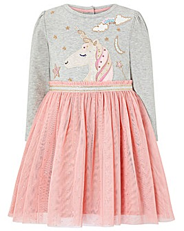Monsoon Baby Unicorn Sparkle Disco Dress
