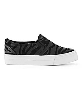 Sunny Slip On Flatform Trainers Extra Wide Fit