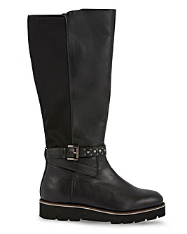 Alyssum High Leg Flatform Boots Extra Wide Fit Super Curvy Calf