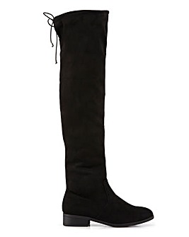 Balsam Over Knee Boots Wide Fit Standard Calf