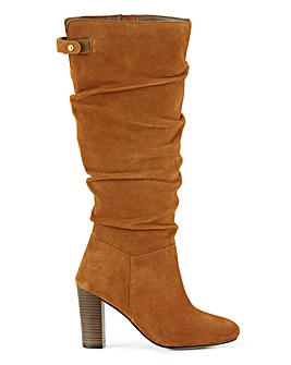 Bay Suede Over Knee Extra Wide Fit Super Curvy Calf