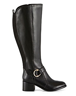 Briar High Leg Leather Riding Boots Extra Wide Fit Curvy Calf