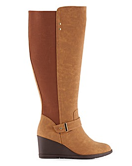 Cicely Wedge Boots Wide Fit Standard Calf