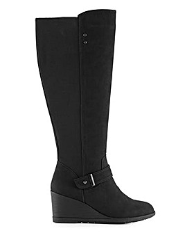 Cicely Wedge Boots Wide Fit Super Curvy Calf