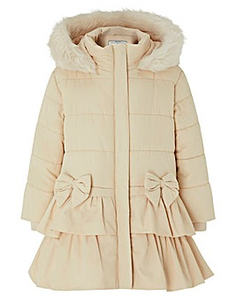 Monsoon Baby Cara Padded Coat Champagne