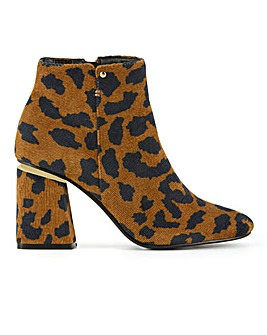 Celosia Flared Heeled Boots Extra Wide Fit