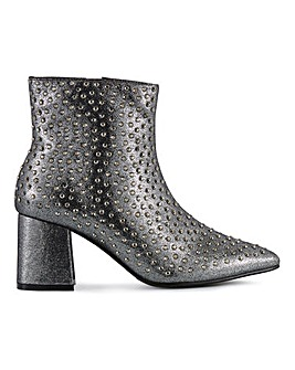 Kennedia Heeled Stud Boots Wide Fit