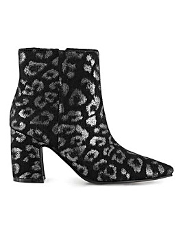 Leilani Block Heel Ankle Boots Extra Wide Fit