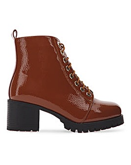 Myrtle Lace Up Ankle Boots Wide Fit