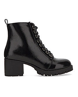 Myrtle Lace Up Ankle Boots Extra Wide Fit