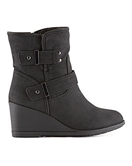Pansy Wedge Ankle Boots Extra Wide Fit