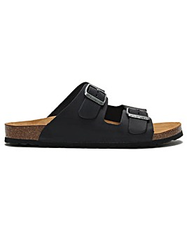 DF By Daniel Coyle Leather Two Bar Mules