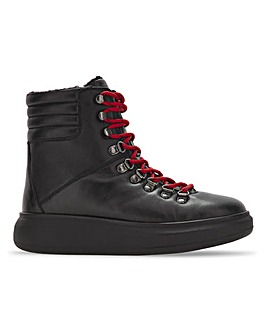 Reed Leather Lace Up Ankle Boots Wide Fit