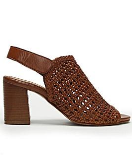 Daniel Zoina Woven Block Heel Sandals