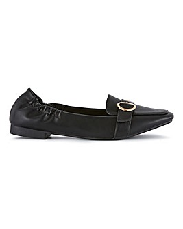 Astrid Buckle Detail Flat Shoes Extra Wide Fit