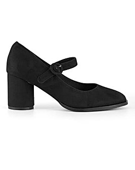 Jennifer Heeled Mary Jane Shoes Wide Fit