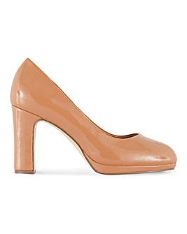 Kenya Heeled Court Shoes Wide Fit